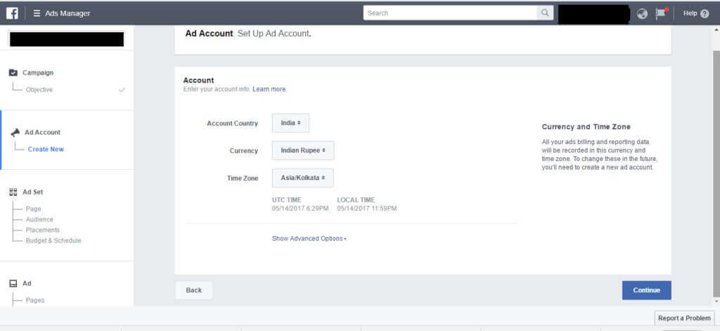 set up your facebook ad account