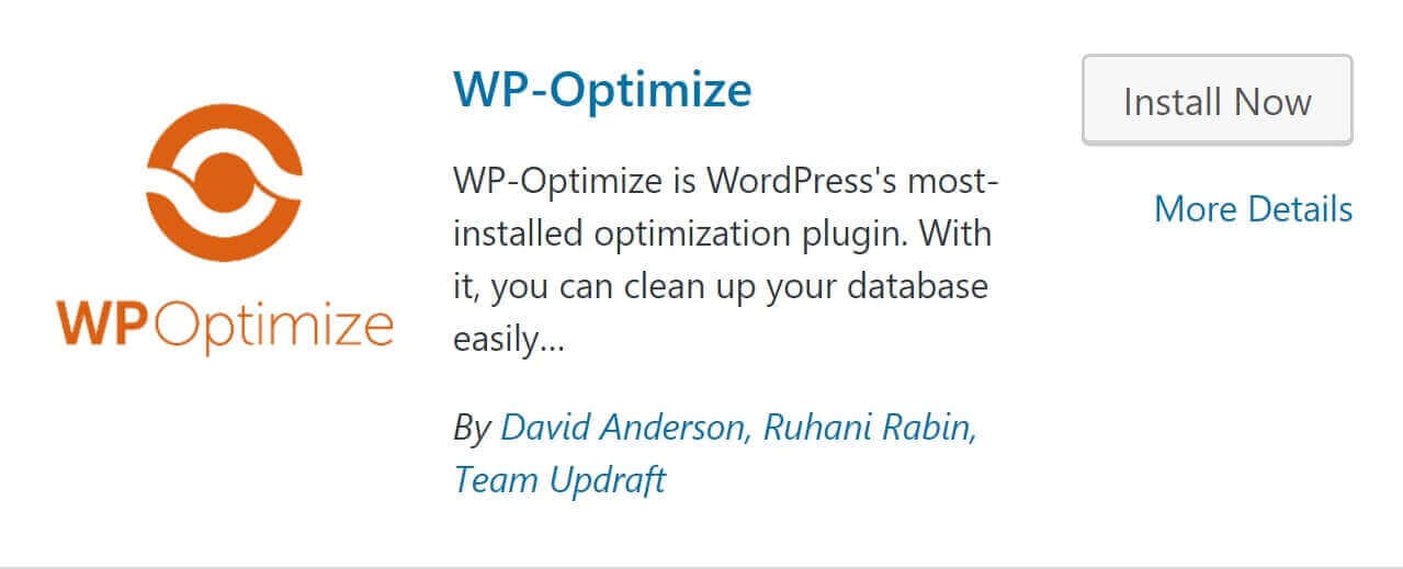 wp optimize plugin