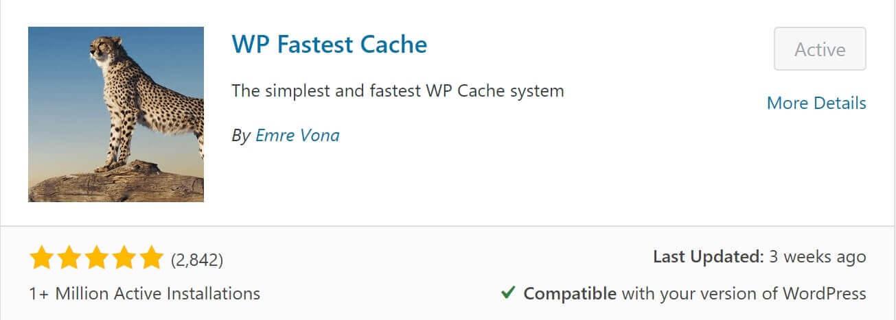 wp fastest cache plugin to speed your WordPress Website
