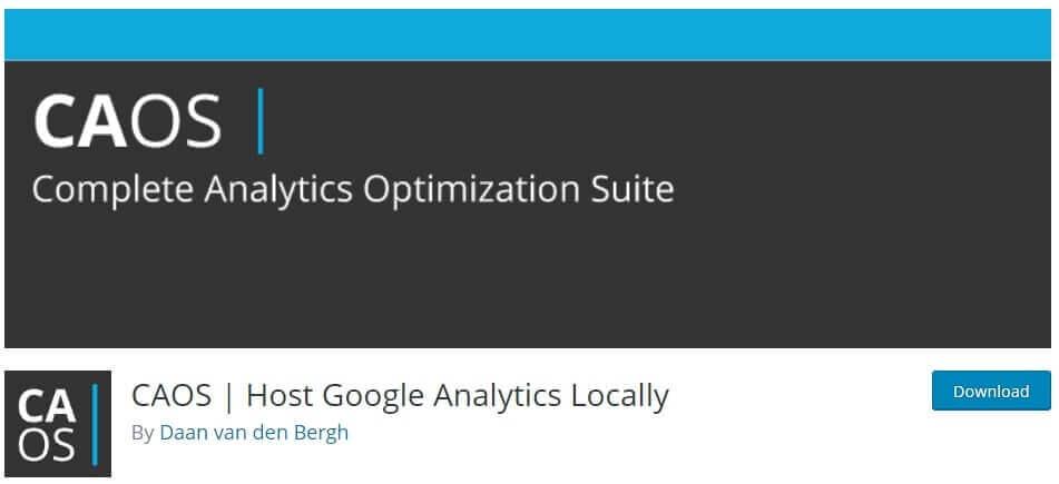 caos plugin to host google analytics locally