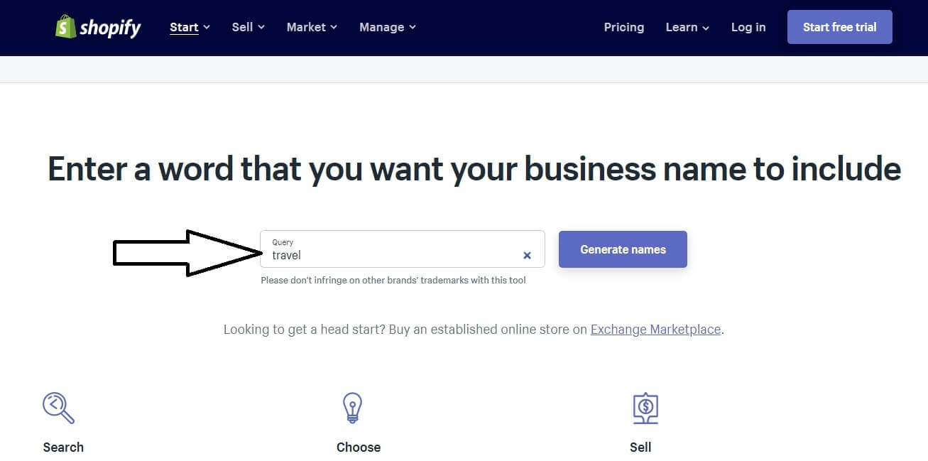 shopify business name suggestion