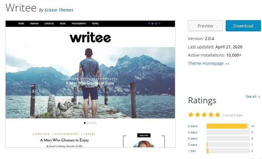 free lightweight wordpress themes