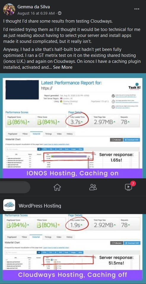 cloudways hosting speed review 2020