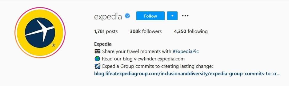 expedia instagram profile